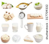 white color products collage... | Shutterstock . vector #317709332