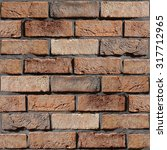 wall of the brick   decorative... | Shutterstock . vector #317712965