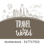 travel the world design... | Shutterstock .eps vector #317717522