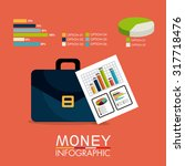 business growth and money... | Shutterstock .eps vector #317718476