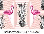 beautiful seamless vector... | Shutterstock .eps vector #317734652