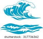 blue wave surf | Shutterstock .eps vector #317736362