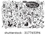 hand drawn christmas icon's set ... | Shutterstock .eps vector #317765396