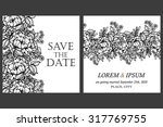 invitation with floral... | Shutterstock .eps vector #317769755