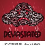 devastated word showing... | Shutterstock . vector #317781608