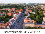 aerial view of the old town... | Shutterstock . vector #317784146