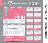 desk calendar 2016 vector... | Shutterstock .eps vector #317788292