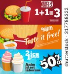 banners set of fast food and eat | Shutterstock .eps vector #317788322