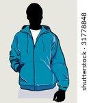 man in hooded sweatshirt with...   Shutterstock .eps vector #31778848