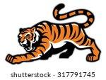tiger mascot | Shutterstock .eps vector #317791745