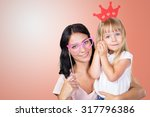 happy mother and child girl | Shutterstock . vector #317796386
