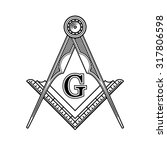 masonic freemasonry emblem icon ...   Shutterstock .eps vector #317806598