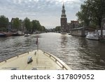 amsterdam canal view from the... | Shutterstock . vector #317809052