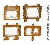 vector wooden signposts   hand...   Shutterstock .eps vector #317809358