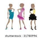 illustration of 3 models in... | Shutterstock . vector #31780996