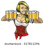 oktoberfest girl holding the...