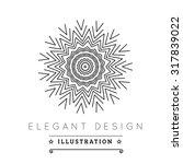 logo template. black and white... | Shutterstock .eps vector #317839022
