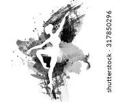 ballerina in dance. watercolor...   Shutterstock .eps vector #317850296