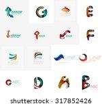 set of new universal company... | Shutterstock .eps vector #317852426