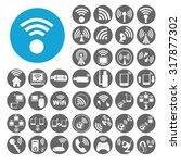 wireless icons set.... | Shutterstock .eps vector #317877302