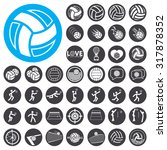 Volleyball Icons Set....