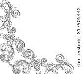 vintage baroque corner is on... | Shutterstock .eps vector #317905442