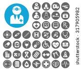 doctor icons set. illustration... | Shutterstock .eps vector #317905982