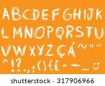 handmade scratch vector... | Shutterstock .eps vector #317906966