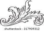 acanthus scroll fine leaf on... | Shutterstock .eps vector #317909312