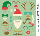 hipster style christmas... | Shutterstock .eps vector #317910386