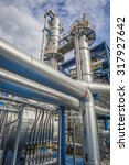 refinery tower in petrochemical ... | Shutterstock . vector #317927642