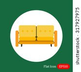 couch icon | Shutterstock .eps vector #317927975