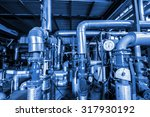 equipment  cables and piping as ...   Shutterstock . vector #317930192
