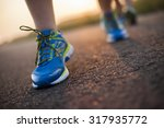 woman fitness  runner feet... | Shutterstock . vector #317935772
