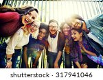 bonding community friends team... | Shutterstock . vector #317941046