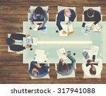 business people meeting... | Shutterstock . vector #317941088