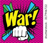 "pop art comics icon ""war "".... 