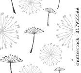 dandelion pattern | Shutterstock .eps vector #317955566