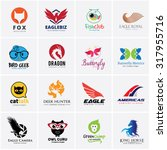 animal logo collection bird...