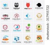 animal logo collection bird... | Shutterstock .eps vector #317955722