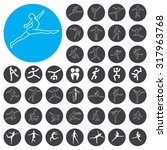 dance icons set. illustration... | Shutterstock .eps vector #317963768