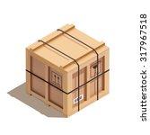 isometric wooden crate  vector... | Shutterstock .eps vector #317967518