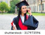 happy woman portrait on her... | Shutterstock . vector #317973596
