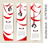 vertical banners set. black... | Shutterstock .eps vector #317978942