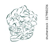 cute vector party cupcake on... | Shutterstock .eps vector #317980256