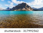 bow lake  icefields parkway ... | Shutterstock . vector #317992562