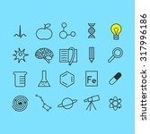 set of science icons | Shutterstock .eps vector #317996186