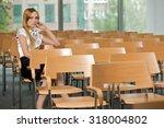 businesswoman contemplating at...   Shutterstock . vector #318004802