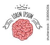 brain logo design vector... | Shutterstock .eps vector #318006206