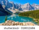 majestic mountain lake in... | Shutterstock . vector #318012686